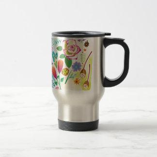presente para ela, ilustração floral caneca térmica