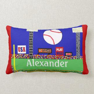 Presente personalizado basebol do travesseiro almofada lombar