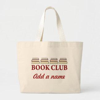Presente personalizado da sacola do clube de bolsa tote grande