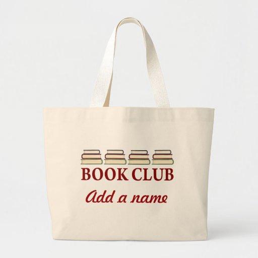 Presente personalizado da sacola do clube de leitu bolsa de lona