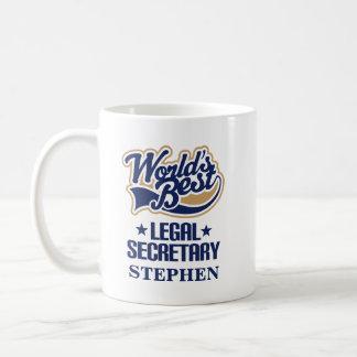 Presente personalizado do secretário legal caneca