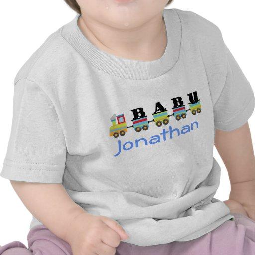 Presente personalizado do trem do bebê camisetas