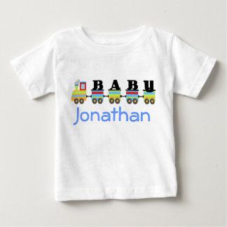 Presente personalizado do trem do bebê tshirt