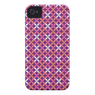 Presente transversal branco cor-de-rosa roxo capa para iPhone