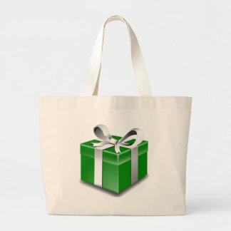 Presente verde bolsa para compras