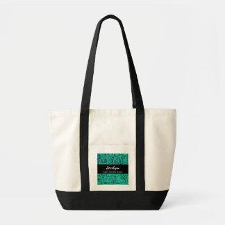 Presente verde do impressão do jacaré da melhor ce bolsa de lona