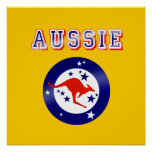 Presentes australianos do logotipo do emblema da b poster