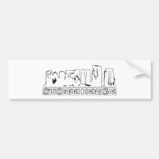 Presentes brancos de Zazzle do MUSEU de Stonehenge Adesivo Para Carro