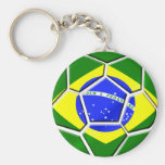 Presentes brasileiros da bola de futebol do futebo chaveiros