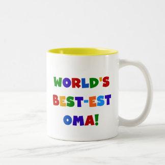 Presentes brilhantes das cores do Melhor-est Oma Caneca De Café Em Dois Tons