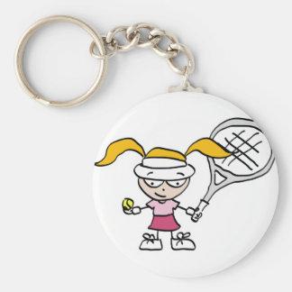 Presentes & cartões do tênis com a menina bonito d chaveiro