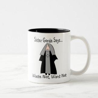 """Presentes católicos engraçados da freira, """"irmã Go Caneca Dois Tons"""