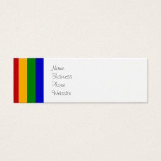 Presentes coloridos clássicos das listras cartão de visitas mini
