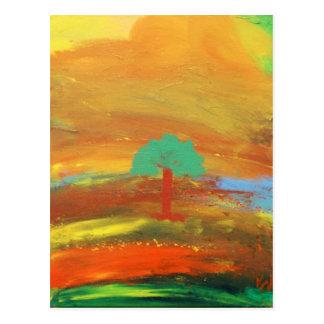 Presentes coloridos da pintura de paisagem cartão postal
