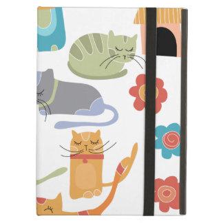 Presentes coloridos do impressão dos gatos do