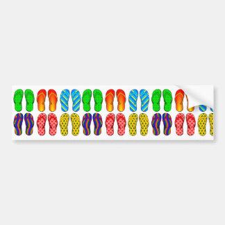 Presentes coloridos do verão do tema da praia do d adesivo para carro