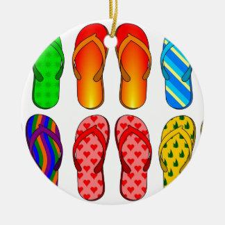 Presentes coloridos do verão do tema da praia do d enfeite