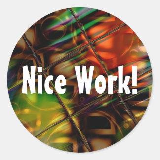 Presentes coloridos do vitral da arte abstracta adesivo