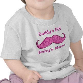 Presentes cor-de-rosa bonito do bebê do bigode par t-shirt