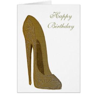 Presentes da arte dos calçados do salto alto do cartão comemorativo