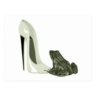 Presentes da arte dos calçados e do sapo do cartão postal