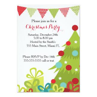 Presentes da árvore do feriado do convite do Natal