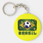 Presentes da bandeira do futebol de Brasil do Grun Chaveiro