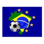 Presentes da bola de futebol das estrelas do mapa  cartoes postais