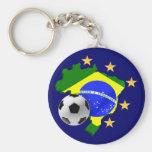 Presentes da bola de futebol das estrelas do mapa  chaveiro