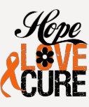 Presentes da cura do amor da esperança da LEUCEMIA Camisetas