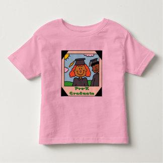 Presentes da graduação do pré-escolar camiseta infantil