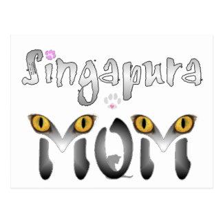 Presentes da mamã do gato de Singapura Cartões Postais
