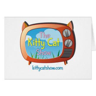 Presentes da mostra do gato do gatinho para um e cartão comemorativo