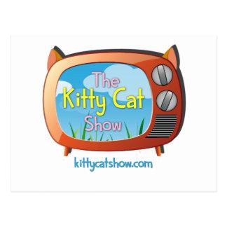 Presentes da mostra do gato do gatinho para um e cartão postal