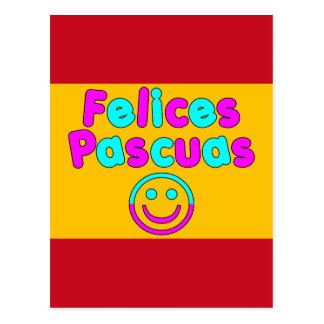 Presentes da páscoa para auto-falante espanhóis cartão postal