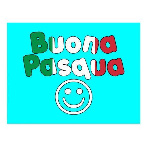 Presentes da páscoa para auto-falante italianos: B Cartão Postal