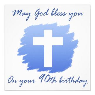 Presentes de aniversário cristãos do 90 convite
