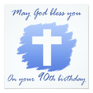 Presentes de aniversário cristãos do 90 convite quadrado 13.35 x 13.35cm