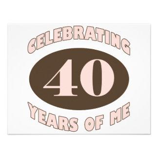 Presentes de aniversário de 40 anos engraçados convites personalizados
