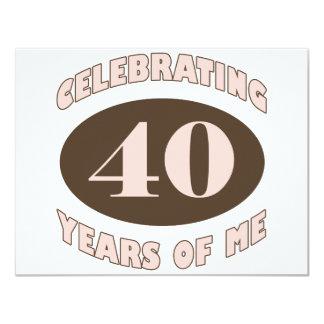 Presentes de aniversário de 40 anos engraçados convite 10.79 x 13.97cm