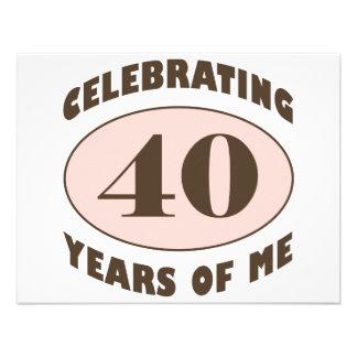 Presentes de aniversário de 40 anos engraçados convite personalizado