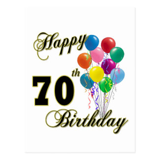 Presentes de aniversário do 70 e roupa felizes do  cartao postal