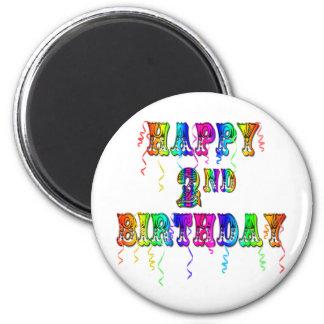 Presentes de aniversário felizes da criança do seg ímã redondo 5.08cm