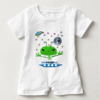 Presentes de Huggs dos aliens & t-shirt relativos Macacão Para Bebê