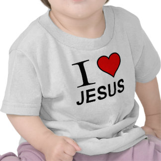 Presentes de Jesus eu amo o logotipo de Jesus na c Tshirt