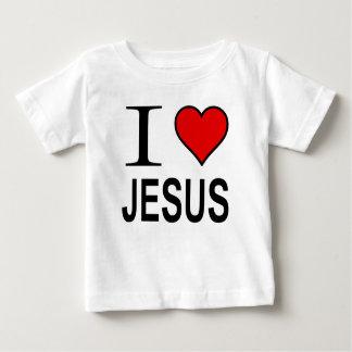 Presentes de Jesus eu amo o logotipo de Jesus na Camisetas