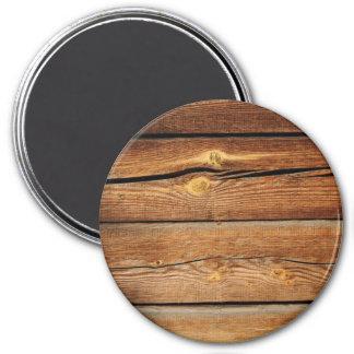 Presentes de madeira do país do conselho das ímã redondo 7.62cm