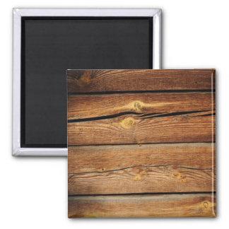 Presentes de madeira do país do conselho das ímã quadrado
