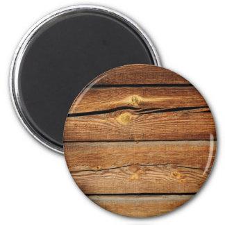 Presentes de madeira do país do conselho das ímã redondo 5.08cm