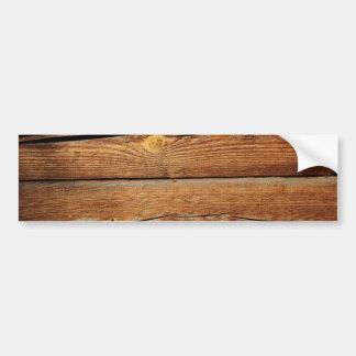 Presentes de madeira rústicos do país do design adesivo para carro